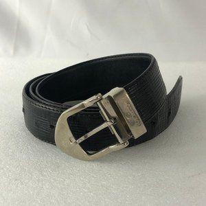 Authentic LOUIS VUITTON Black Epic Leather Belt 40